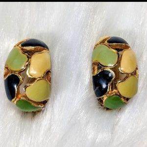 Enamel Mosaic Earrings